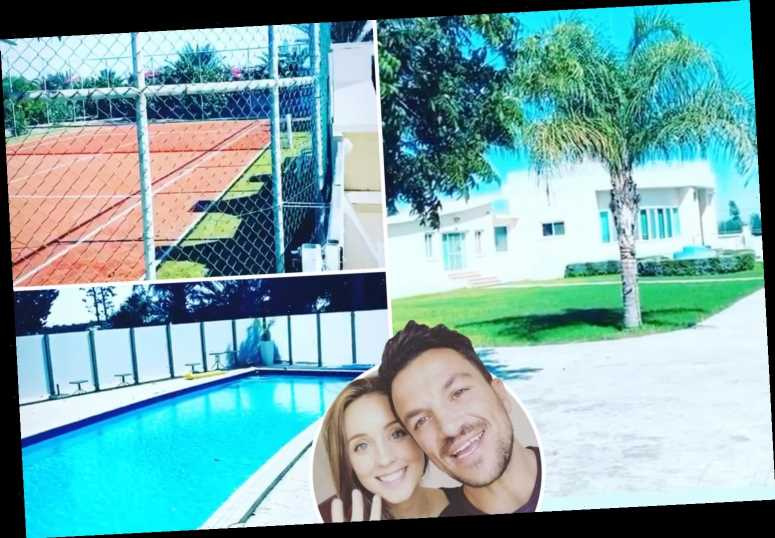 Inside Peter Andre's stunning home in Cyprus with tennis courts and pool as he holidays with wife Emily and their kids