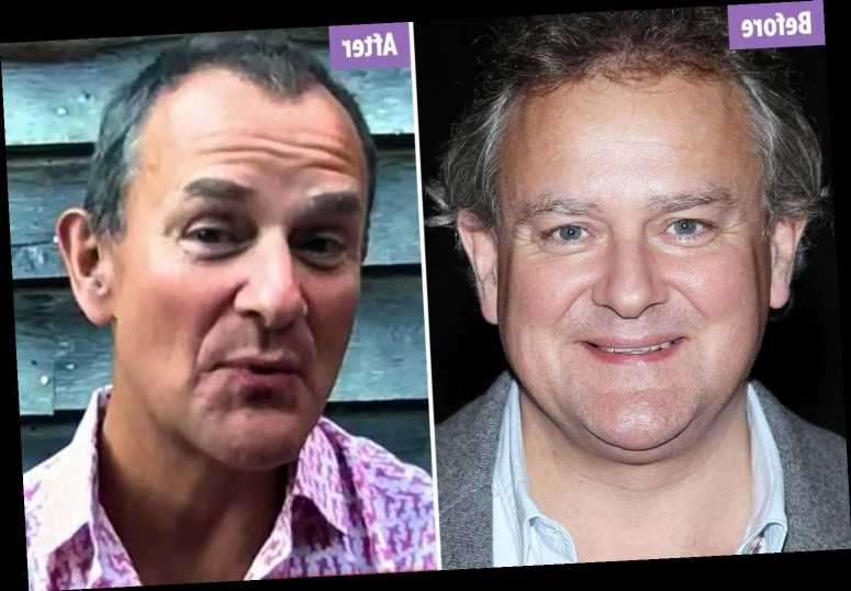 Downton Abbey's Hugh Bonneville is unrecognisable as he shows off lockdown weightloss on The One Show