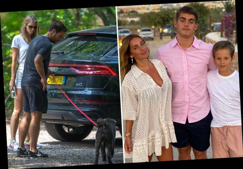 Louise Redknapp poses with sons and admits she's 'grateful' to have spent the summer with them as ex Jamie moves on