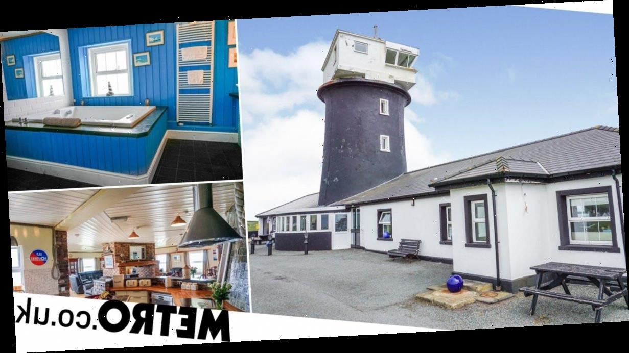 Former lighthouse with eight bedrooms and swimming pool goes on sale for £1m