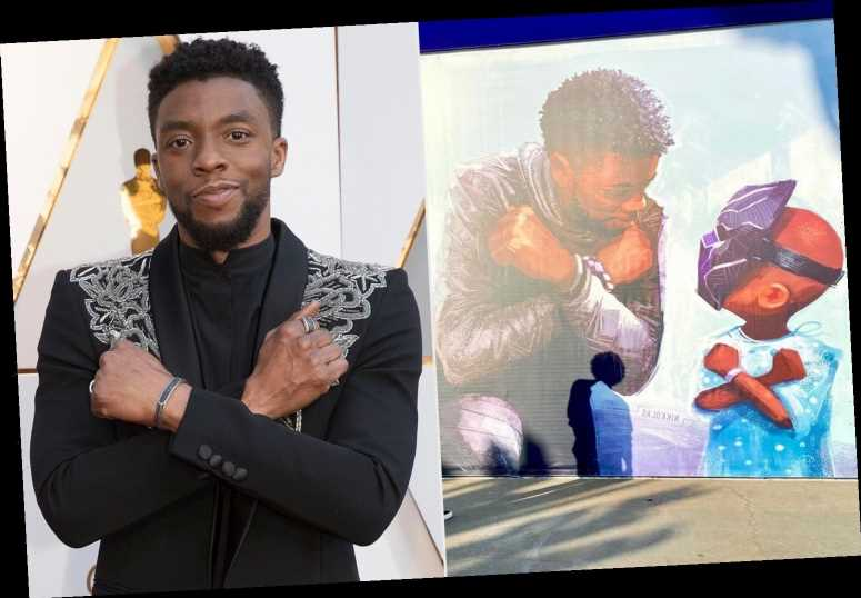 Chadwick Boseman Honored with a New Mural in the Downtown Disney District: 'Long Live the King'