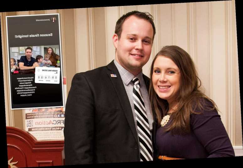 Anna Duggar shares a countdown to season finale of Counting On after dissing the show for kicking off husband Josh