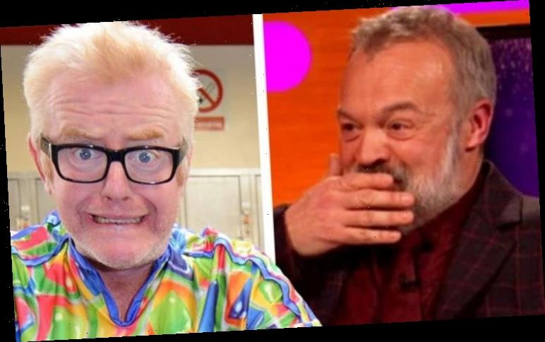 Chris Evans addresses 'kissing' Graham Norton the first time they met 'He's a bit sharp'