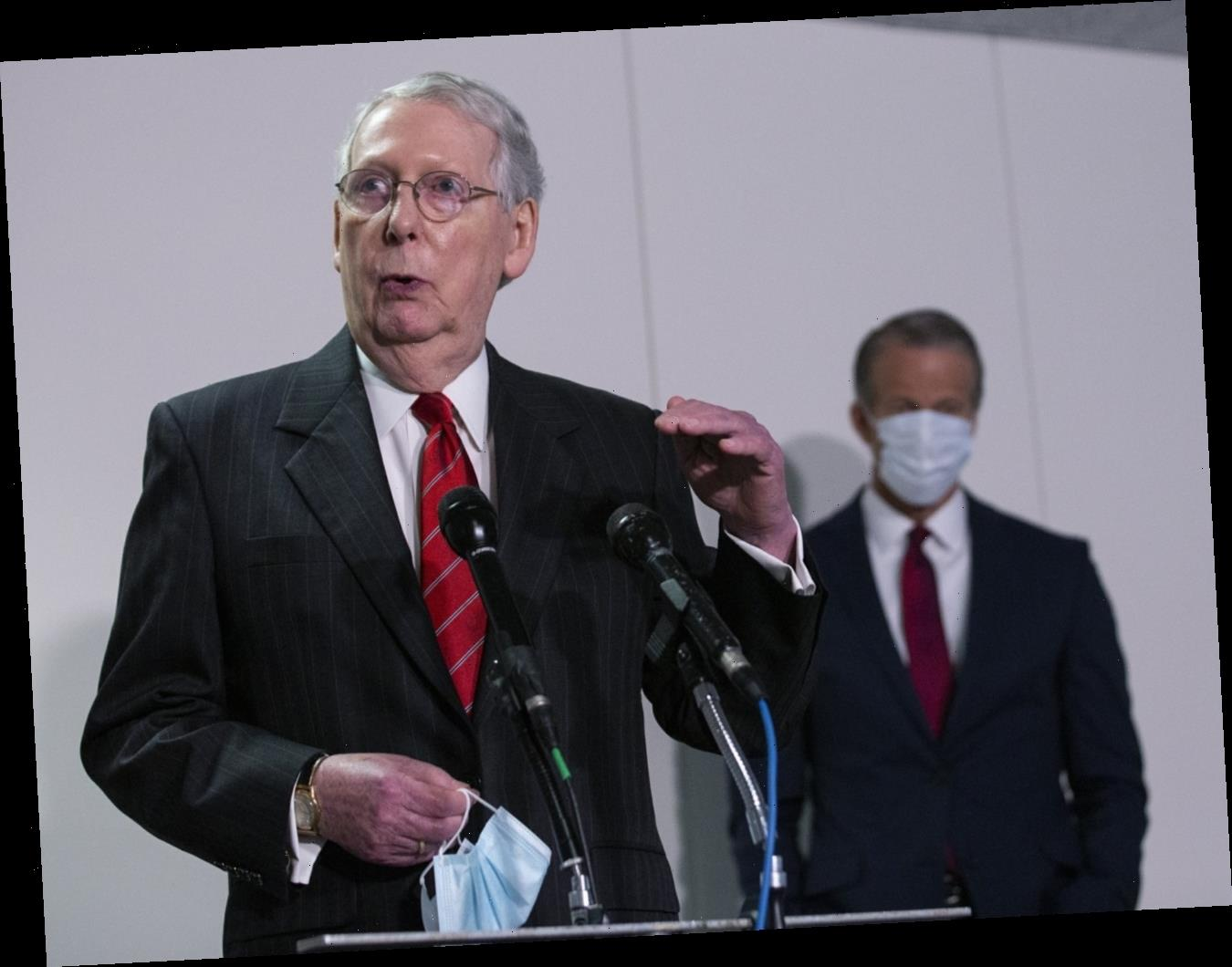 Mitch McConnell laughed like an evil turtle when challenged on the coronavirus