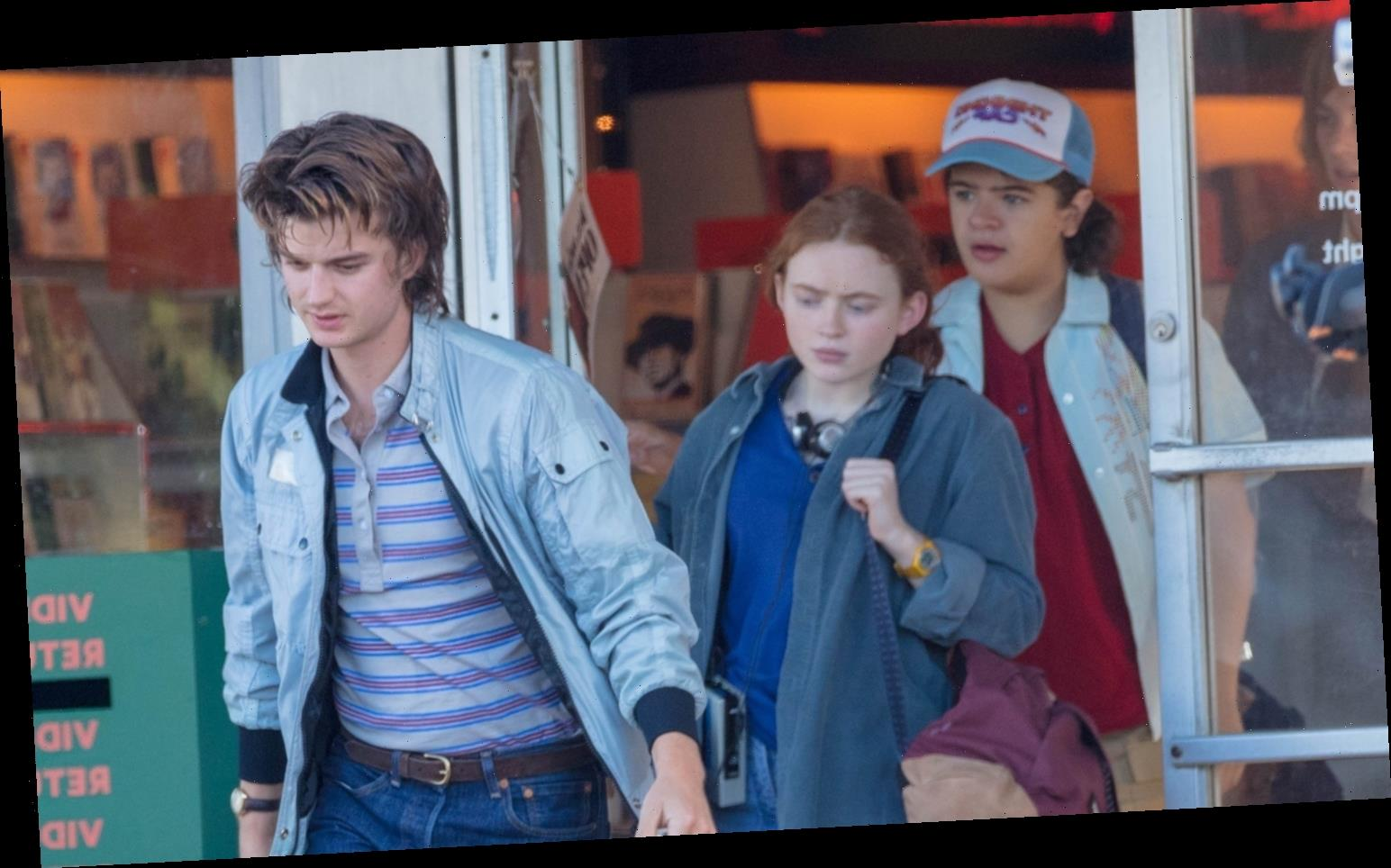 'Stranger Things' Stars Film a Scene at a Video Store – See Photos!