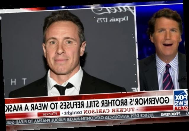 Tucker Carlson Is Obsessed With Whether Chris Cuomo Wears a Mask (Video)