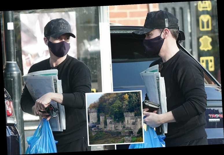 I'm A Celebrity host Declan Donnelly loads a van with belongings as he prepares to move to Wales for new series