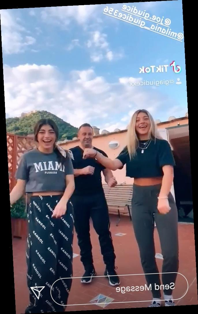 Joe Giudice Attempts TikTok Dance with His Daughters Milania and Gia: 'Hes Got This One … Kinda'