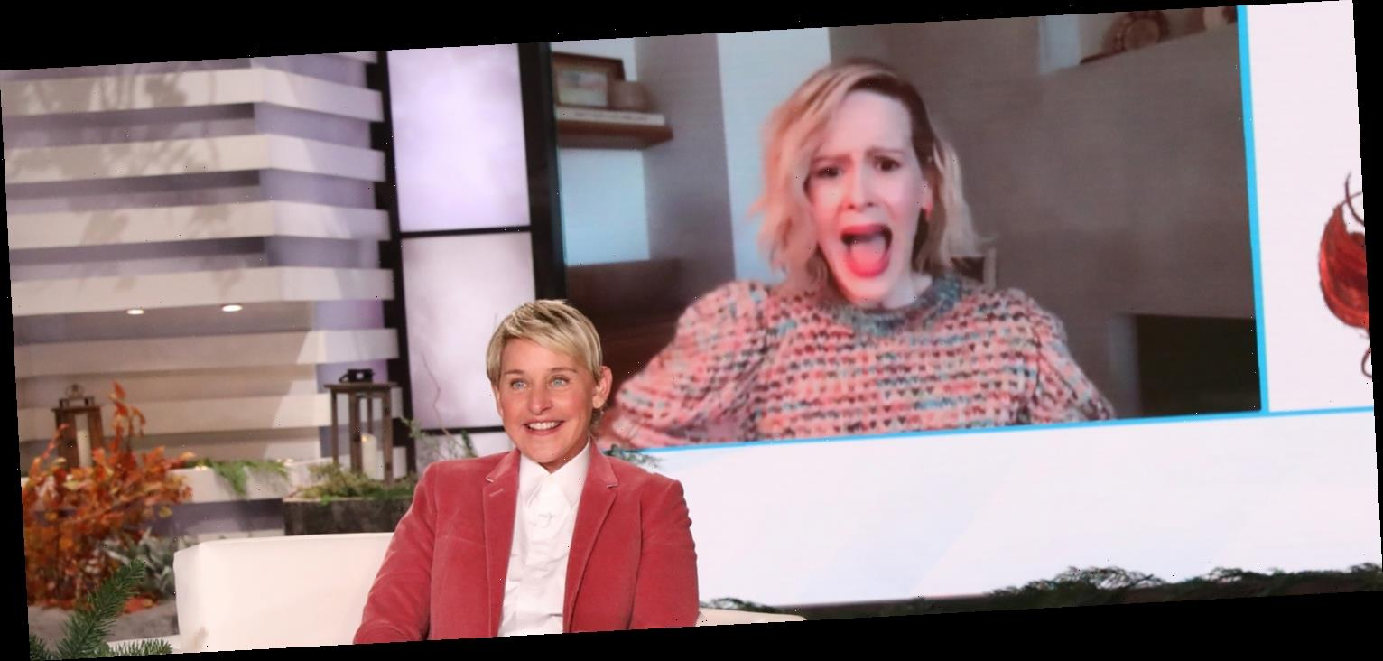 Ellen DeGeneres Manages to Scare Sarah Paulson During Her Virtual Interview – Watch!