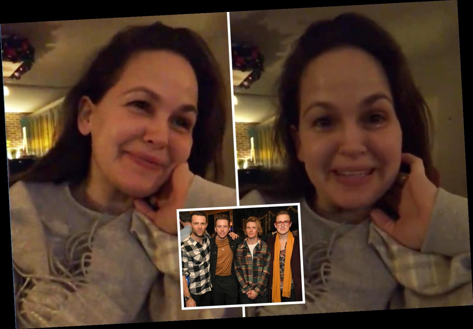 Giovanna Fletcher breaks down in tears as she watches husband Tom's McFly tribute show All About Us