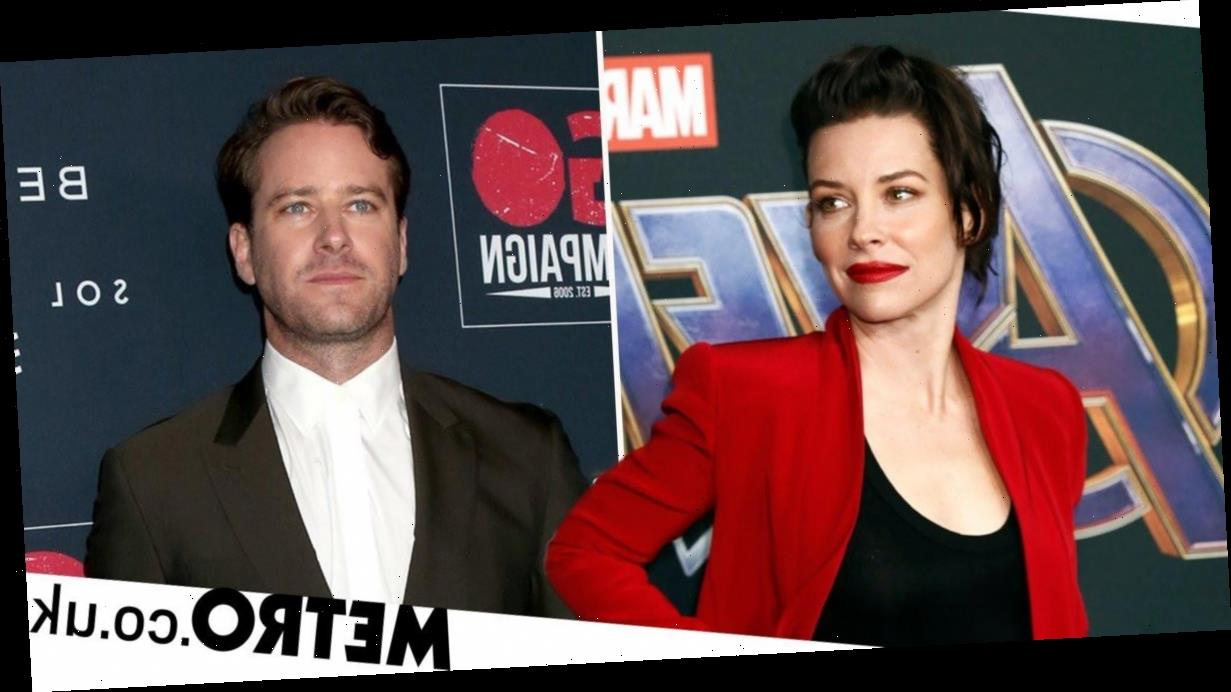 Evangeline Lilly shades Crisis co-star Armie Hammer with poster snub