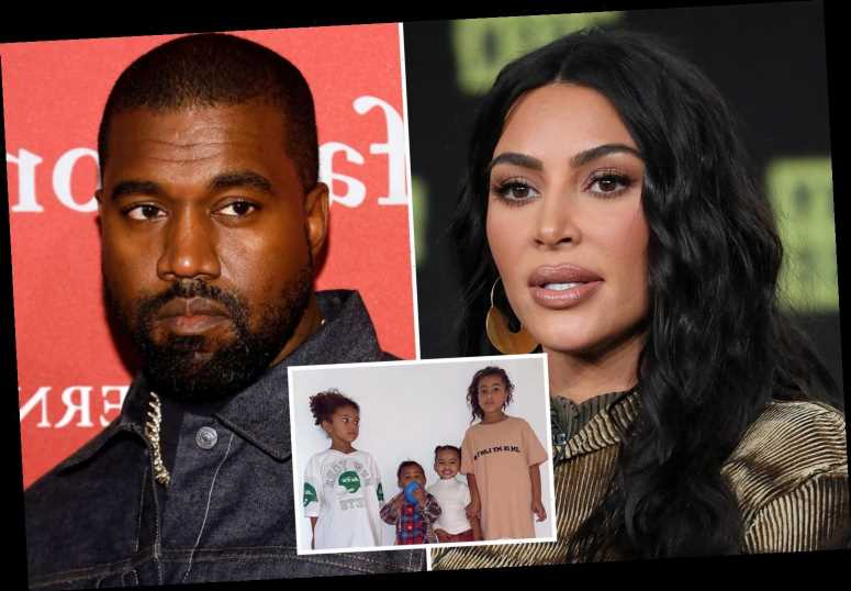 Kim Kardashian and Kanye West's four kids 'know nothing' about their marriage crisis as she 'plans to divorce' rapper