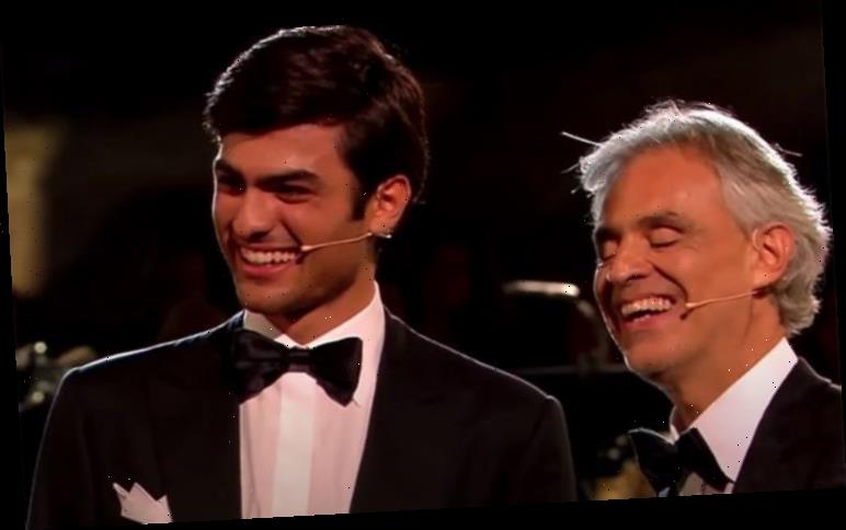 Andrea Bocelli: Son Matteo sings in Rome's Colosseum at 19 as proud brother Amos watches