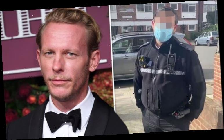 Laurence Fox slams police for intimidation as they confront him for 'breaking Covid rules'