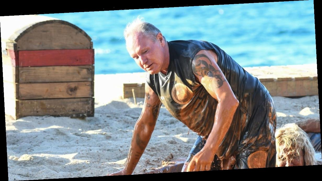 Paul Gascoigne caked in mud as he tackles first Italian jungle show challenge
