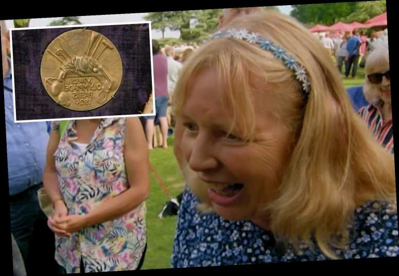 Antiques Roadshow guest lost for words at value of Olympic Gold Medal from 1924