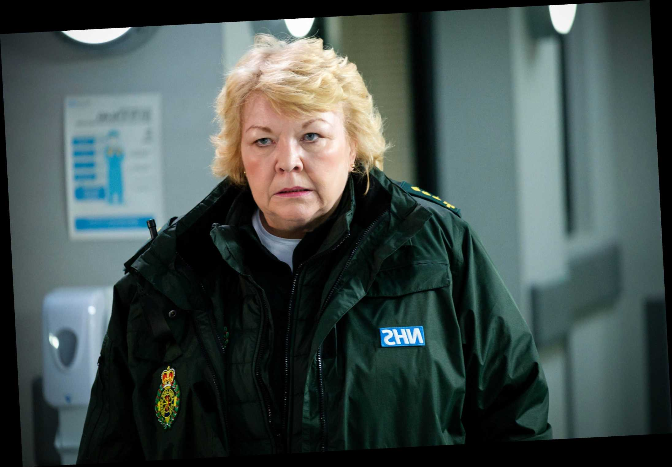 Casualty spoilers: Jan risks everything to save her son's life, while Jacob and Connie have explosive showdown