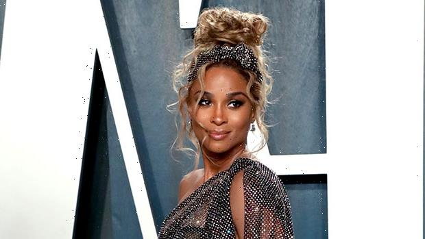 Ciara Channels Farrah Fawcett In 'Charlie's Angels' By Wearing Sexy Catsuit & 70s Hair