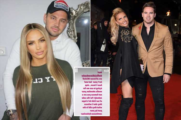 Katie Price slams cheating ex husband Kieran Hayler for saying she 'gets engaged to all her boyfriends'