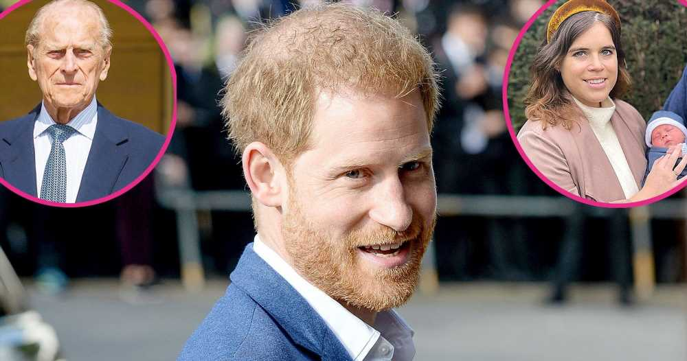 Prince Harry Met Eugenie's Son While in U.K. for Prince Philip's Funeral