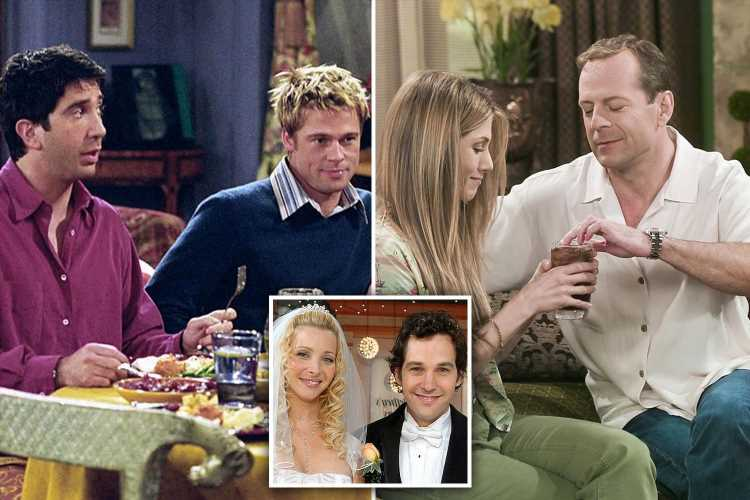Friends' shocking guest stars including Sean Penn, Reese Witherspoon, Bruce Willis and Jennifer Aniston's ex Brad Pitt