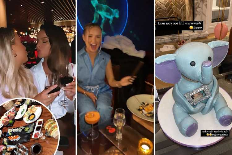 Inside Molly-Mae Hague's 22nd birthday bash with sushi, booze, incredible Ellie Belly cake