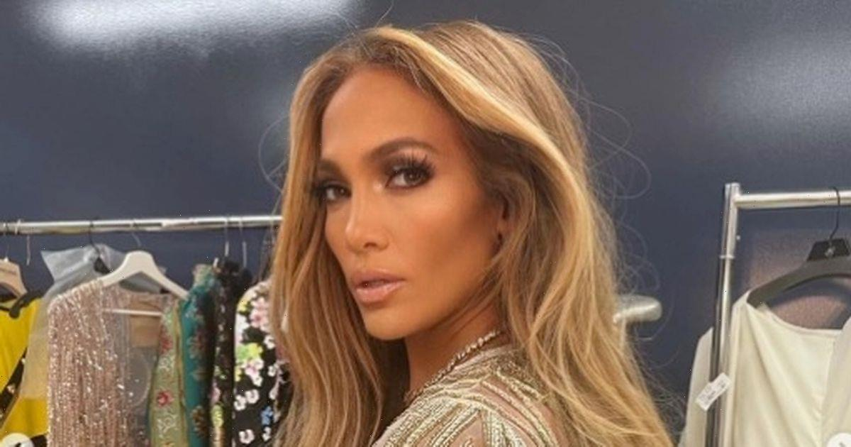 Jennifer Lopez shows Alex Rodriguez what he's missing in racy frontless jumpsuit