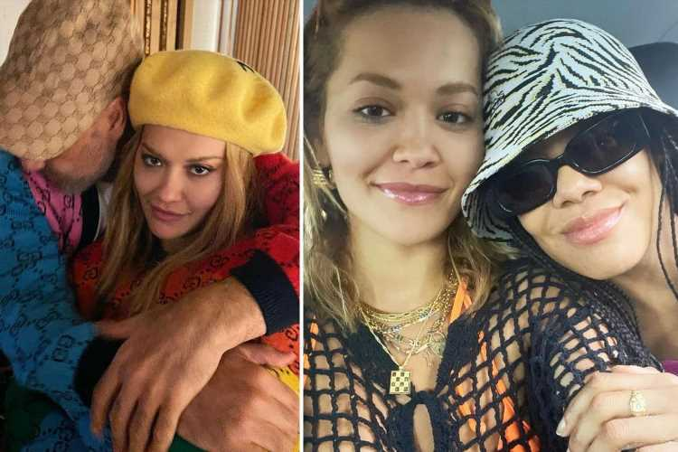 Rita Ora and her boyfriend Taika Waititi spotted getting VERY cosy with Thor star Tessa Thompson on boozy night out