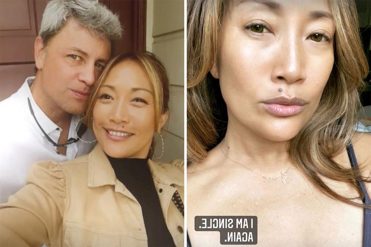 The Talk's Carrie Ann Inaba reveals she split from boyfriend Fabien Viteri after taking 'leave of absence' from the show