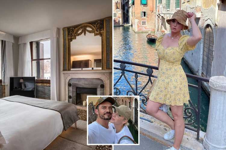 Inside Katy Perry and Orlando Bloom's luxury Venice holiday with £4,300-a-night hotel and romantic gondola rides