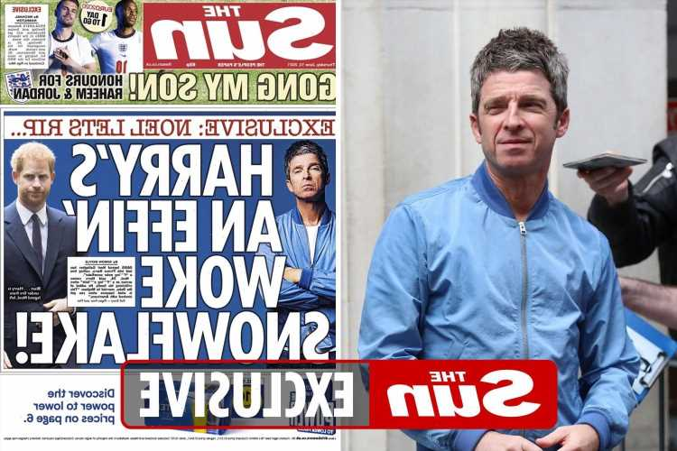 Noel Gallagher wants to hang The Sun's front page where he slates woke Prince Harry on his wall