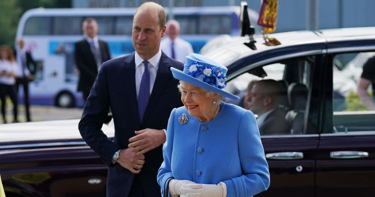 Queen in high spirits as she arrives in Scotland with grandson Prince William