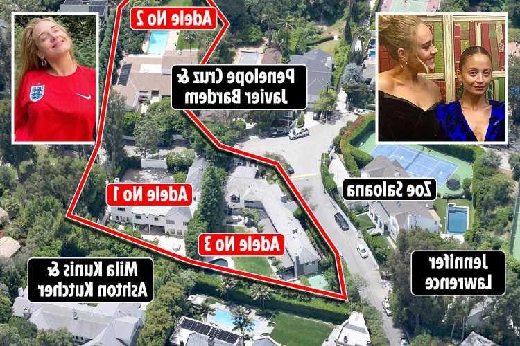 Inside Adele's £7m LA home after she buys THIRD huge mansion on the same street from pal Nicole Richie