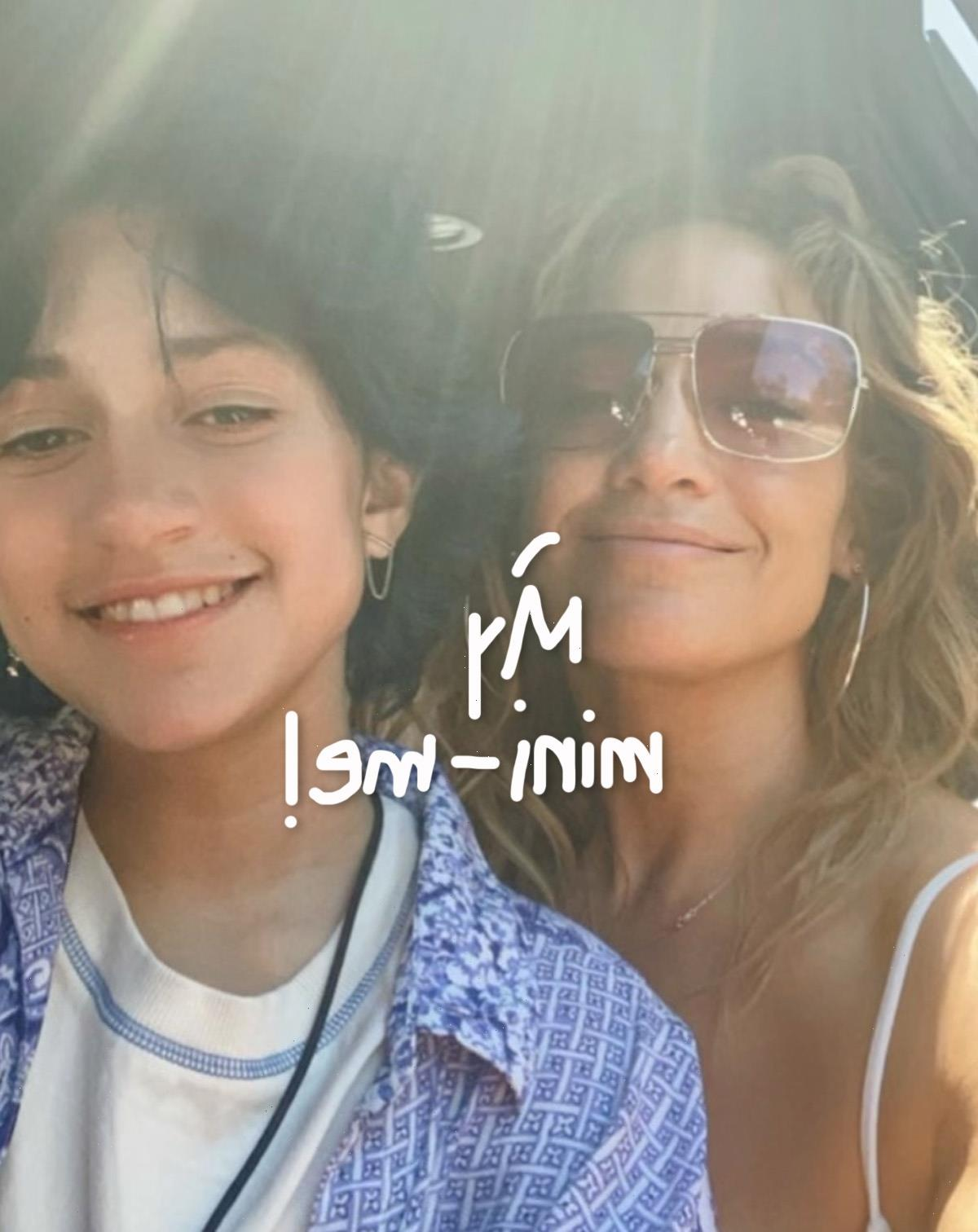 Jennifer Lopez & Daughter Emme Are Totally Twins In New Selfie!!