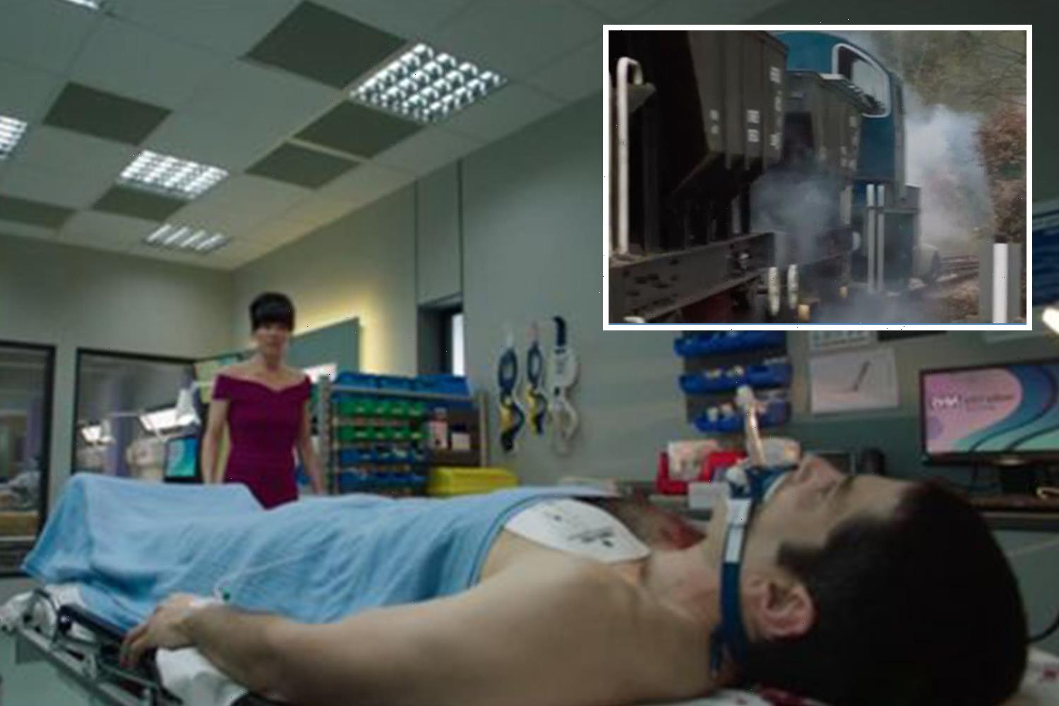 Casualty viewers in tears as two characters are killed off in horrifying train crash scenes