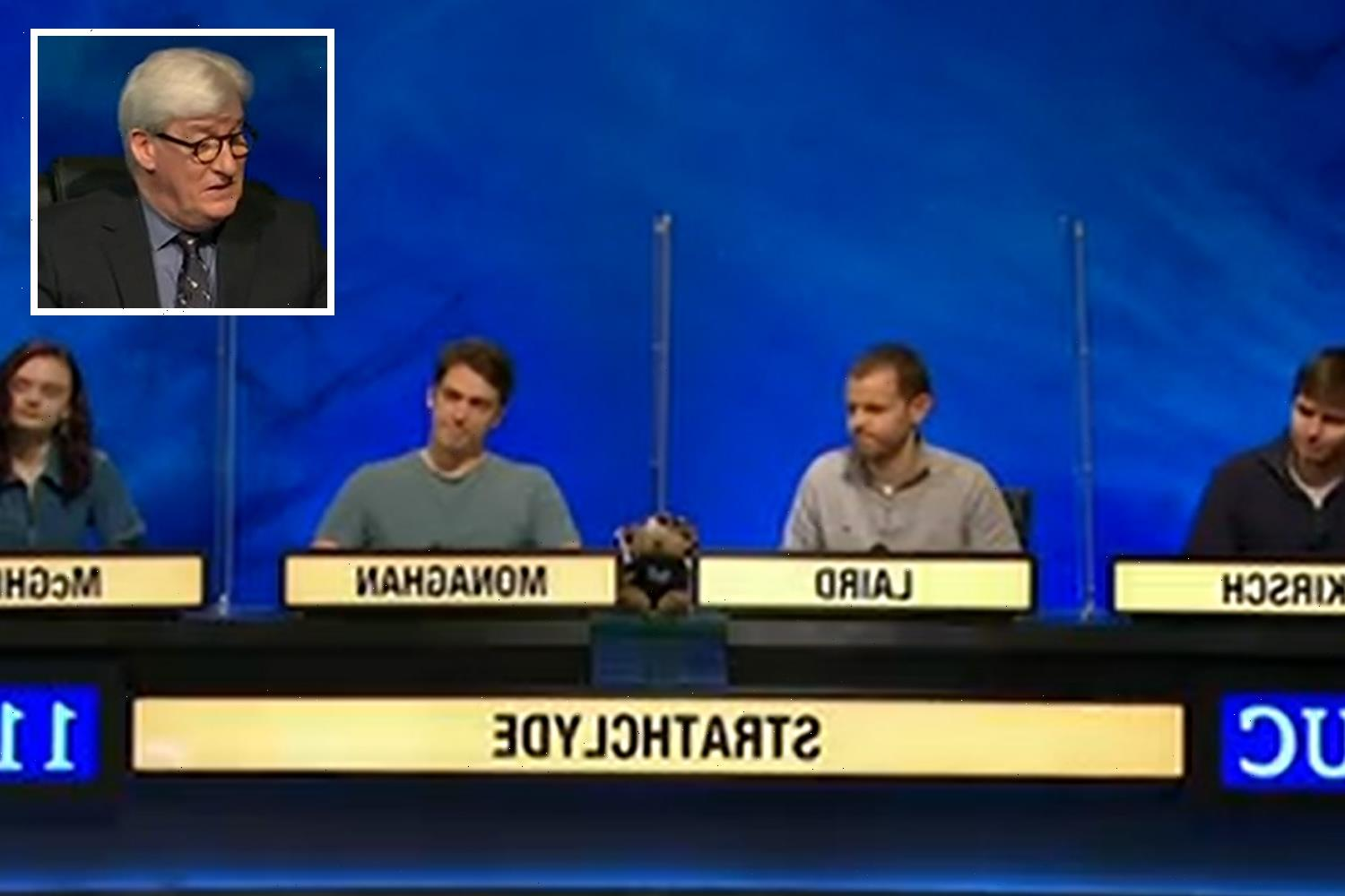 Jeremy Paxman leaves University Challenge viewers stunned with VERY rude swipe at losing team