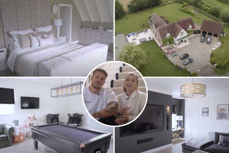 Love Island's richest couple Alex and Olivia Bowen show off enormous renovated home and it's almost as big as the villa