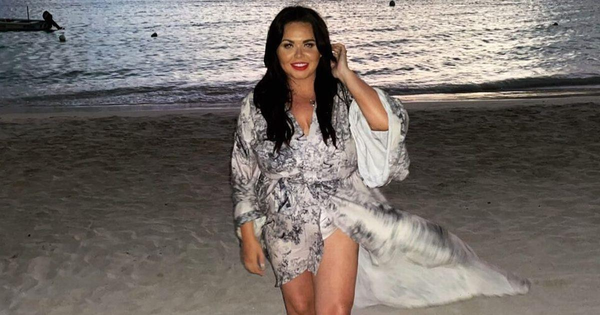 Scarlett Moffatt flashes legs in beach snap after after finding 'new confidence'