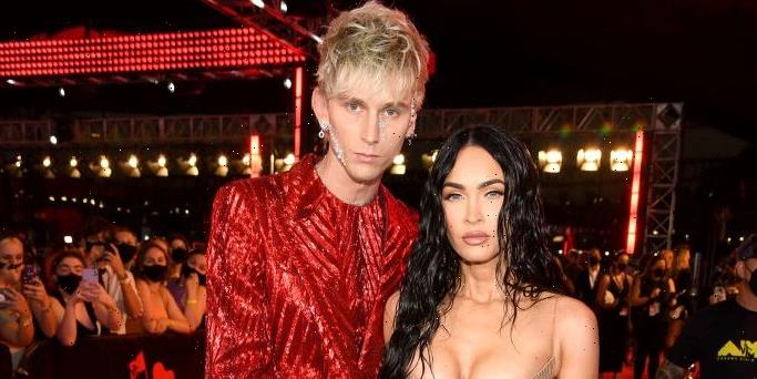 Oh Wow, Megan Fox Looked Fully Naked Walking the Red Carpet With Machine Gun Kelly at the 2021 VMAs