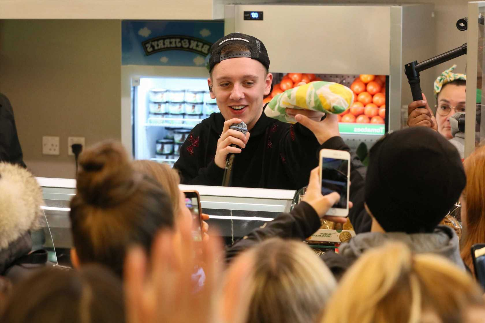 Rapper Aitch shocks fans as he performs surprise gig in Subway
